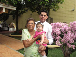 Marie, my wife's mom with Jose her grandson & great grandaughter